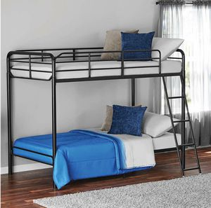 TWIN OVER TWIN BUNK BED NO MATTRESSES INCLUDED for Sale in Dallas, TX