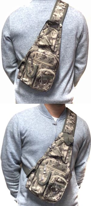 NEW! Camouflage Side Bag Crossbody bag chest bag sling cell phone pouch wallet biking camping hiking day pack edc backpack travel bag for Sale in Carson, CA
