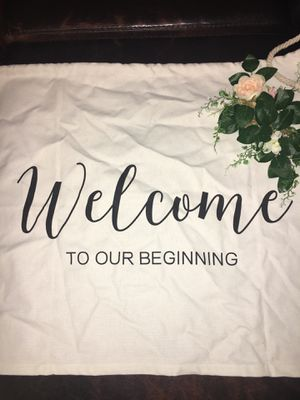 Rustic Wedding Welcome Sign for Sale in Newport Beach, CA
