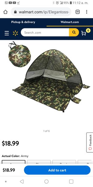 Camping tent automatic pop up for Sale in Santa Ana, CA