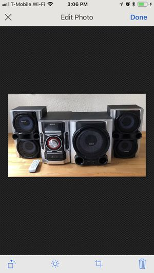 Sony Mini Hi-Fi Component System MHC-GX99 MP3 CDR/RW Playback Powered Subwoofer for Sale in San Diego, CA