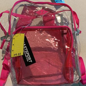 Girls Clear Backpack And Flashing Glasses for Sale in Winter Garden, FL