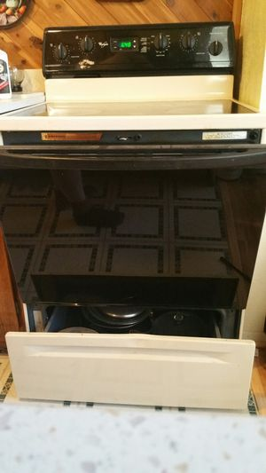 Whirlpool glass top cook stove for Sale in Lakeside, AZ