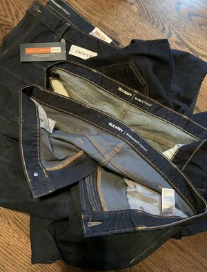 3 pair mens jeans 38 x 30 old navy new 1 with tags for Sale in Old Mill Creek, IL