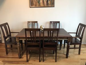 Solid Wood Dining Table set from Nadeau for Sale in Chicago, IL