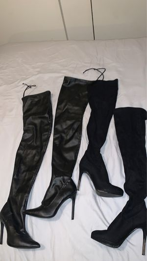 Leather and suede thigh high boots for Sale in Phoenix, AZ