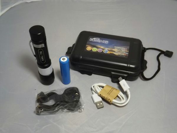 Smart flashlight with rechargeable battery