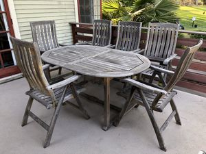 Teak wood patio table and chairs for Sale in San Diego, CA