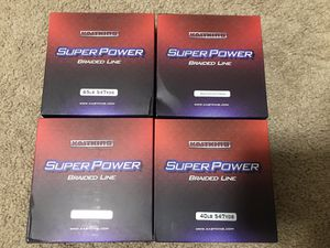 4 New Kastking Fishing Braided Line Super Strong Fishing Line No-Stretch for Sale in Lincoln, NE