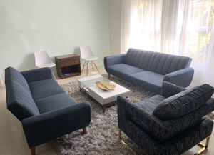 Modern Blue Split Back Convertible Sofas for Sale in Clearwater, FL