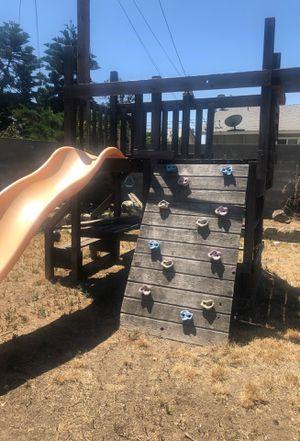 Redwood swing set for Sale in Covina, CA