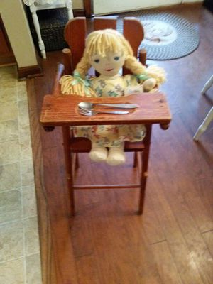 antique child's doll high chair good condition and I have a Lennon sister doll in excellent condition for Sale in Acworth, GA