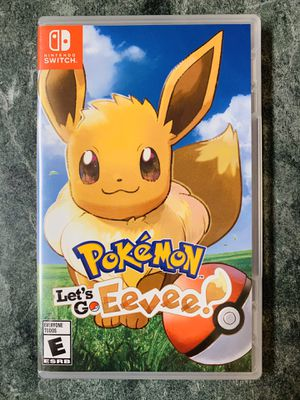 Let's Go Eevee Nintendo Switch (not Pikachu) for Sale in Buffalo Grove, IL