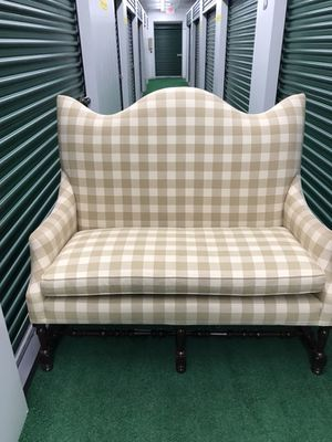 Beige and white love seat. for Sale in Newburyport, MA