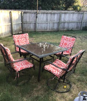 Five piece outdoor furniture in great shape for Sale in Richardson, TX