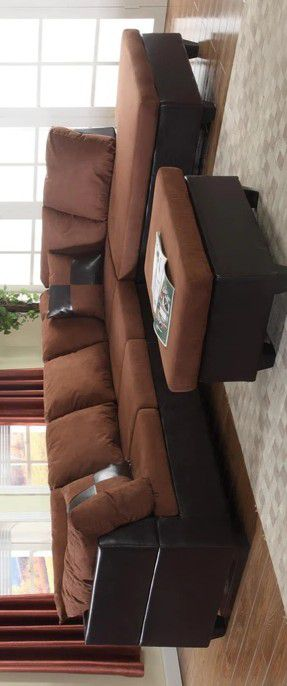 🔥FREE OTTOMAN 🔥Matisse Chocolate/Mocha Sectional for Sale in Glen Burnie, MD