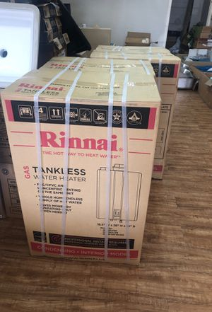 Rinnai Tankless water heater Brand new each 1,200 for Sale in Houston, TX