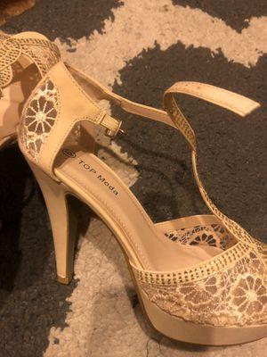 Top Moda Beige 4.5' formal heels. for Sale in Beaverton, OR