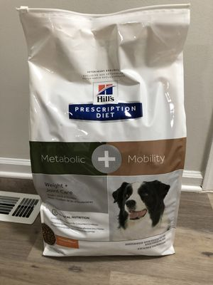Hill's Prescription Diet Metabolic + Mobility Weight & Joint Care Chicken Flavor Dry Dog Food - 24 lb for Sale in Forest Hill, MD