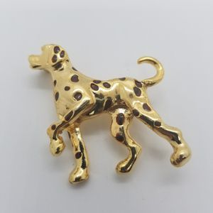 Gold Dalmatian Dog Brooch Pin for Sale in Los Angeles, CA