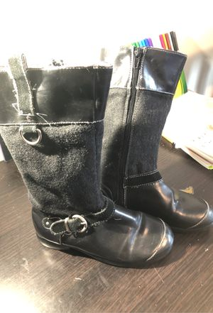 Girls black boots size 13 for Sale in DORCHESTR CTR, MA