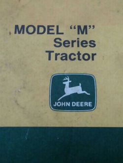 Manual John Deer M Tractor Parts for Sale in Valparaiso,  IN