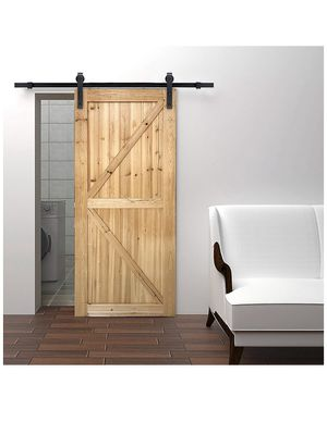 6.6ft Sliding Barn Door Hardware Kit,Hardware for Barn Door,Antique Style,Sliding Smoothly Quietly,Factory Outlet Upgraded Version Quality Carbon Ste for Sale in Moreno Valley, CA