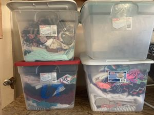 Containers full of kids clothing for Sale in Perris, CA