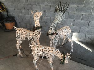 Outdoor 3 piece Reindeer family light set for Sale in New Holland, PA
