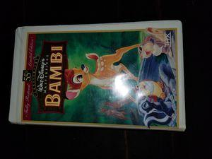 Bambi 55th anniversary vhs for Sale in Herriman, UT