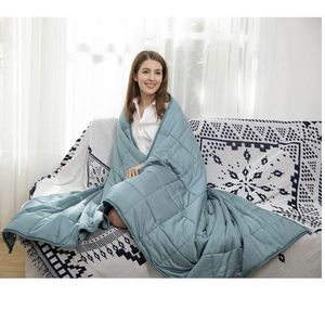 CuteKing Cooling Bamboo Weighted Blanket 80x87 for Queen or King Sizes Bed for Sale in Moreno Valley, CA