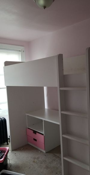 Bed frame with desk and storage for Sale in Philadelphia, PA