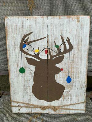 Handmade rustic Christmas deer sign for Sale in Lake Charles, LA