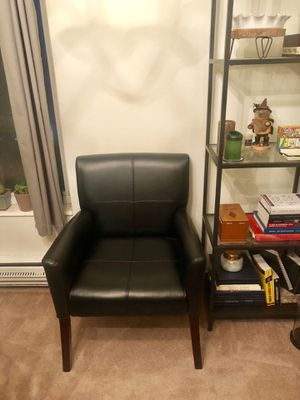 Black Leather Accent Chair for Sale in Seattle, WA