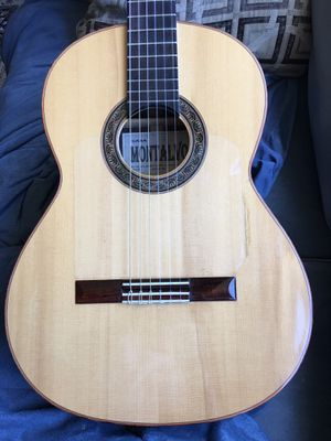 Casa Montalvo Professional Flamenco Negra Guitar Engleman Spruce with case for Sale in Los Angeles, CA