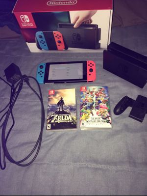 Nintendo Switch With Zelda And Smash for Sale in Pace, MS