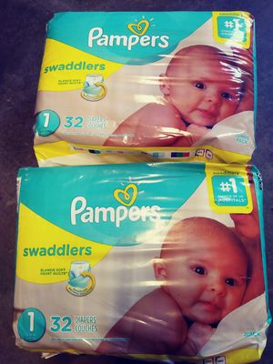 2 packs Pampers size 1 take both for $8 for Sale in Hacienda Heights, CA