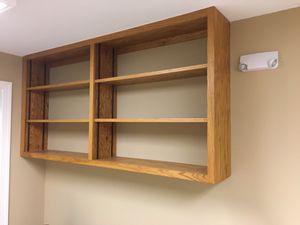 Oak shelf. Wall or floor mounted book case for Sale in Lilburn, GA