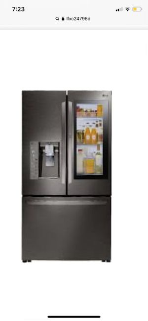 Smart fridge refrigerator with InstaView technology and extended warranty for Sale in Davie, FL