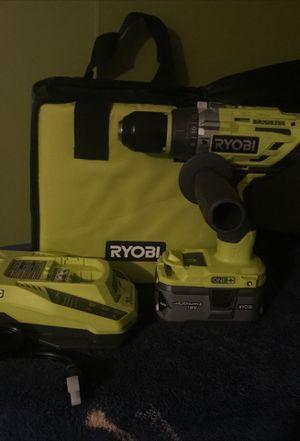 Ryobi 18 v Brushless Hammer drill Driver kit for Sale in Dublin, OH