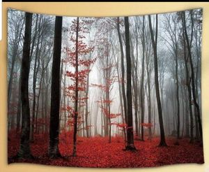 Fantasy Forest Tapestry Black Red Trees Mystic Horror Wall Art Hanging Gothic Decor Photo Backdrop for Sale in Orlando, FL