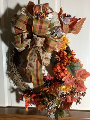 Fall Floral Wreath for Sale in Bellefonte, PA