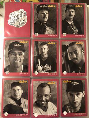 2 binders studio 91 baseball cards for Sale in Puyallup, WA