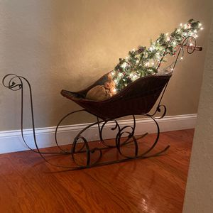 Victorian doll Christmas sled for Sale in Tarpon Springs, FL
