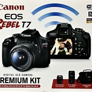 NEW CANON EOS REBEL T7 PREMIUM KIT for Sale in City of Industry, CA