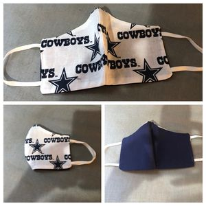 Dallas Cowboys facemask washable reusable reversible for Sale in Farmers Branch, TX