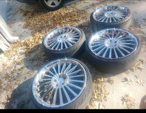 22 ich Rims and tire as is for Sale in Grandview, MO