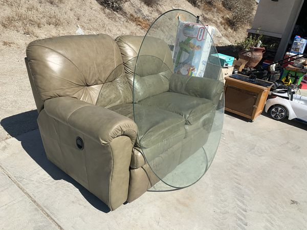 Recliner and glass table top