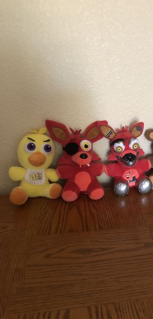 Five nights at Freddy's plushies for Sale in Litchfield Park, AZ