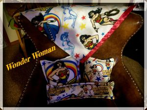 Homemade Wonder Woman pillow and blanket set for Sale in Show Low, AZ